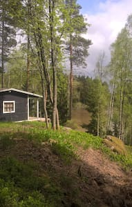 Peaceful cottage at the forrest by the water. - Kisház
