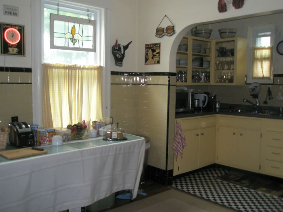 Kitchen available to guests