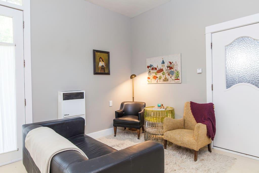 Cozy living space.