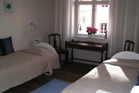 Conveniently situated in Islands Brygge,  a popular  residential water-front district, just on the edge the city centre. Even so, the journey to and from the airport is only 25 minutes, door to door.  Two light and comfortable rooms close to the city