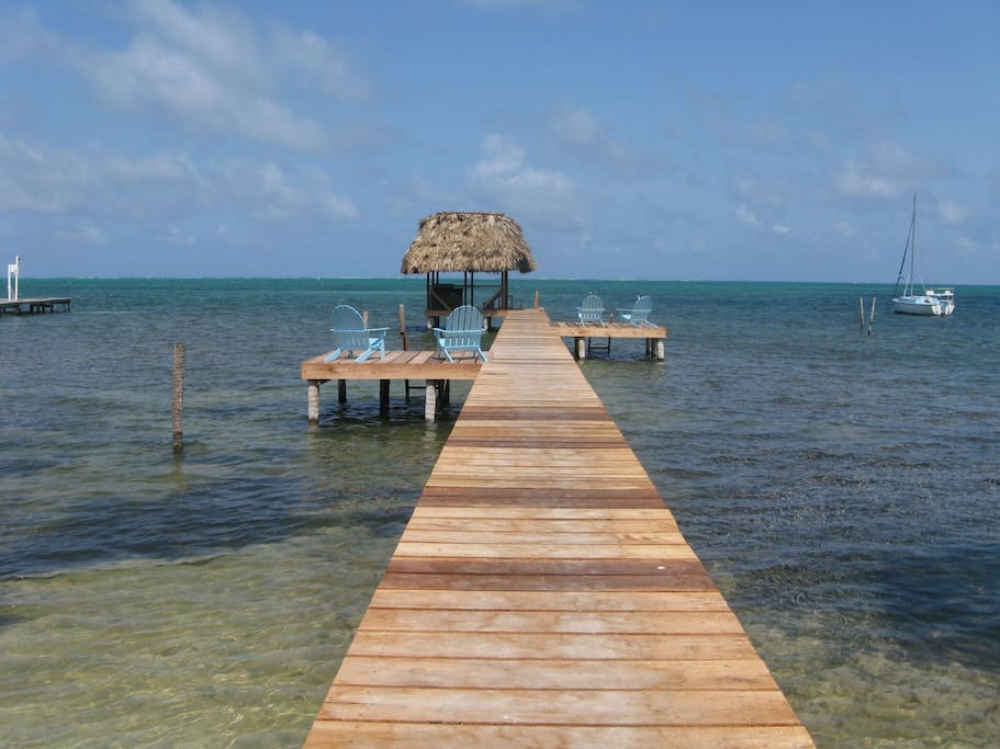 Best Pier on Caye Caulker steps from your cabana !