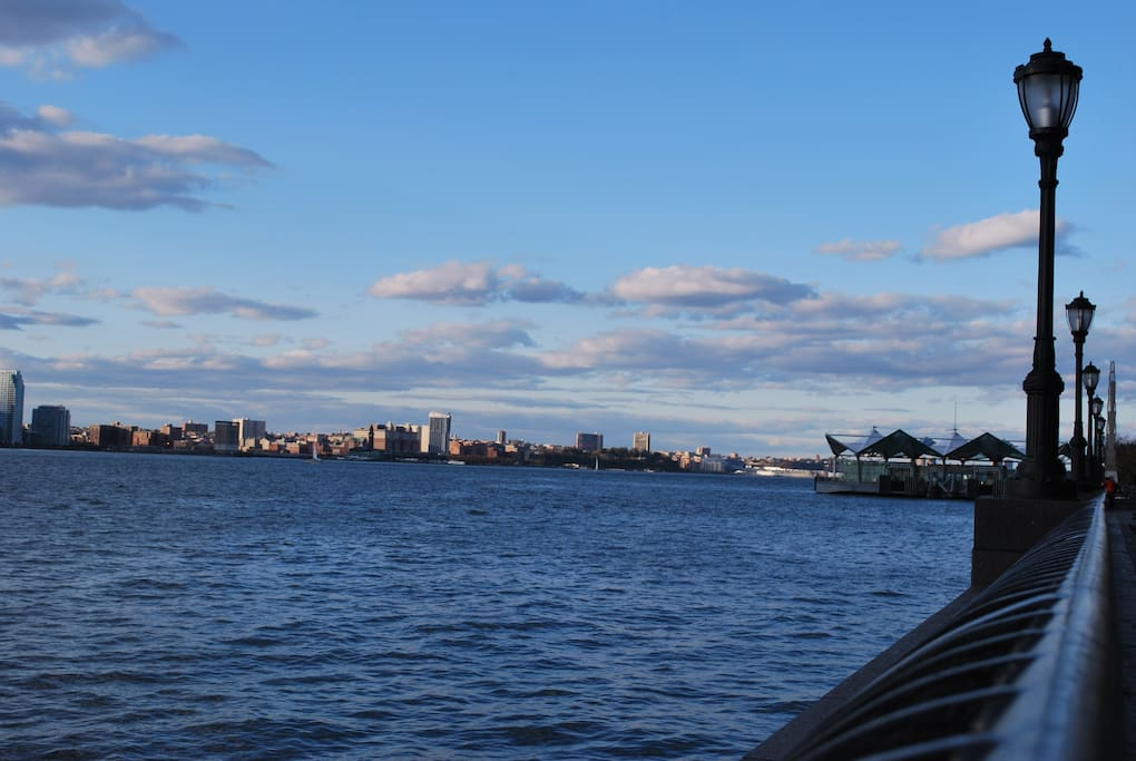 The Hudson River (right outside of the apartment)