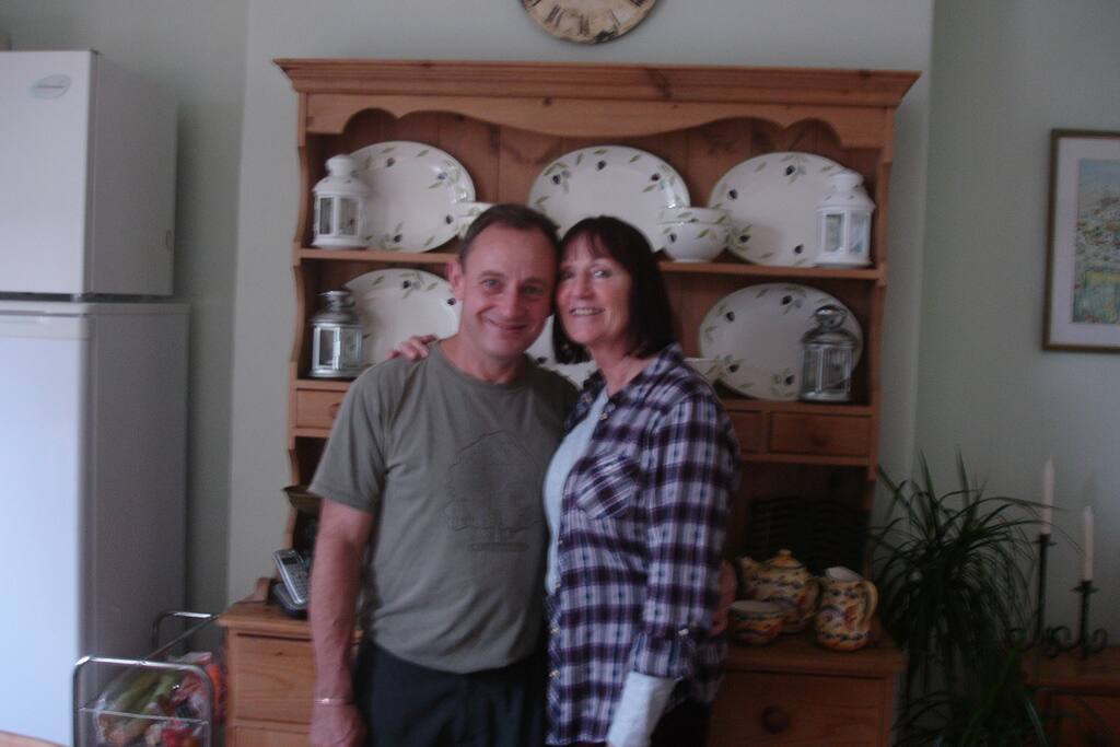 Mike and Rita at home