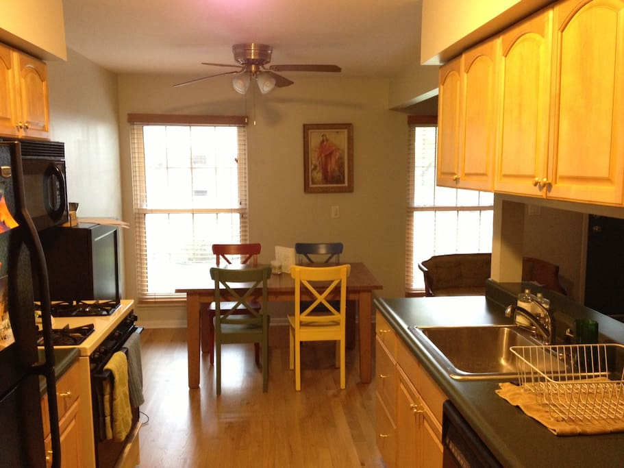 Kitchen and dining area.  Be sure to ask for breakfast.