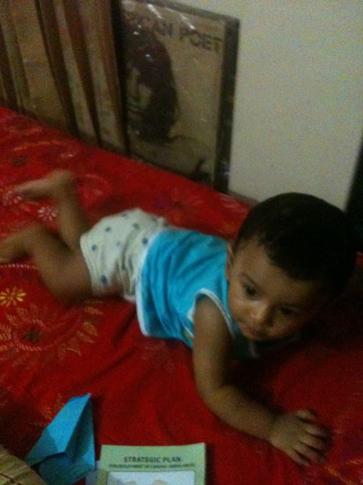 My BED and thats ma nephew, your neighbor :D