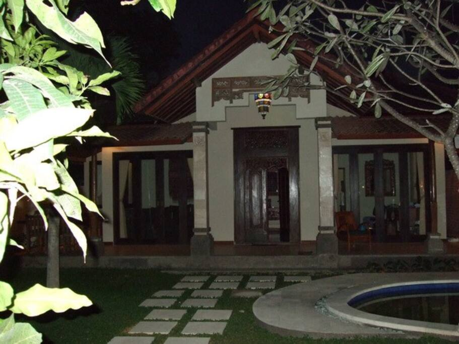 Entrance and view of the two bedroom classical tropical villa