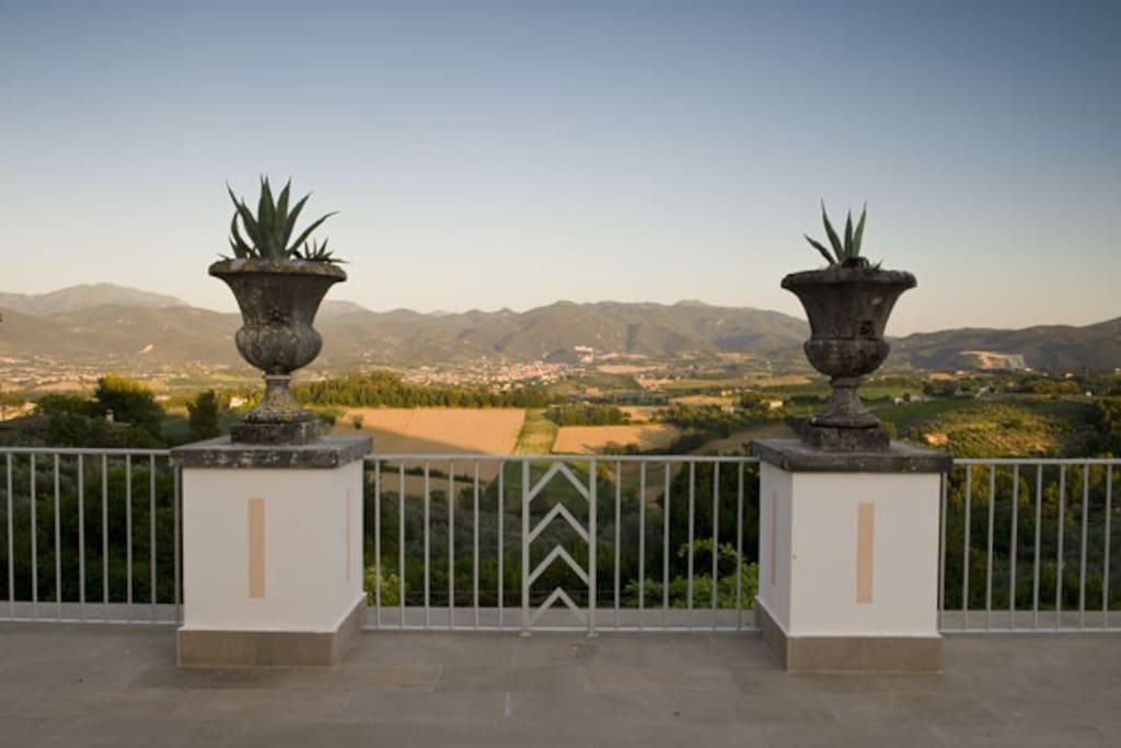 The view from the main Villa Terrace