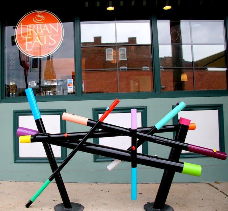 Bike Rack Art Piece