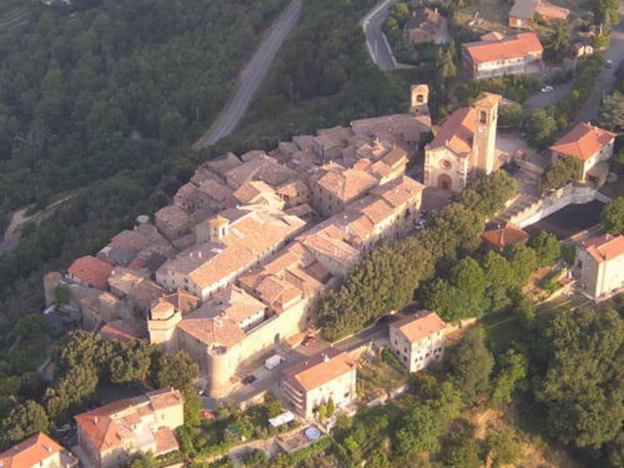 Arial view of Collazzone
