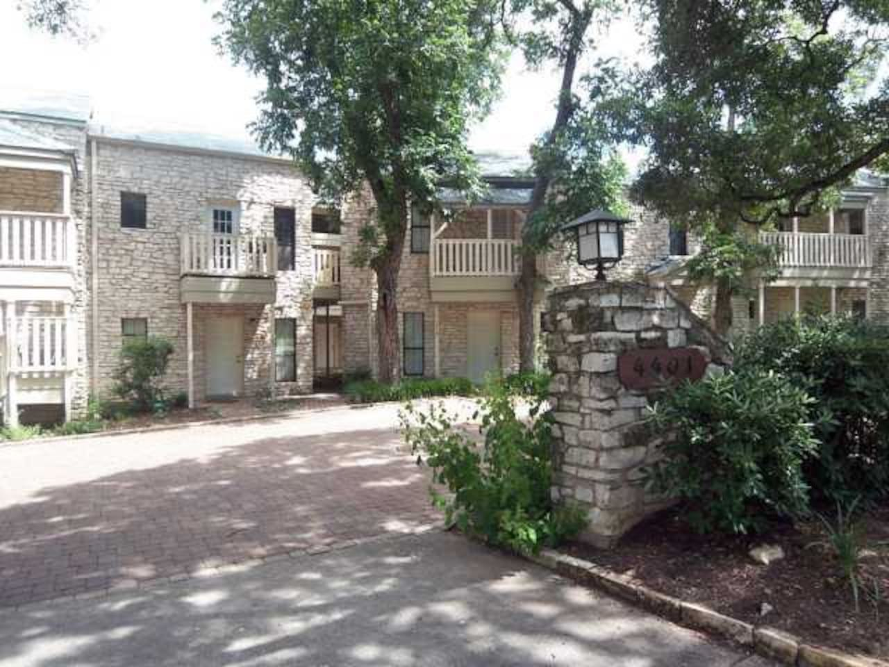This is the front of the complex. It's comfortable and quiet with an Old World charm!