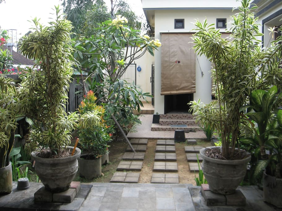 View of garden before entering to the house