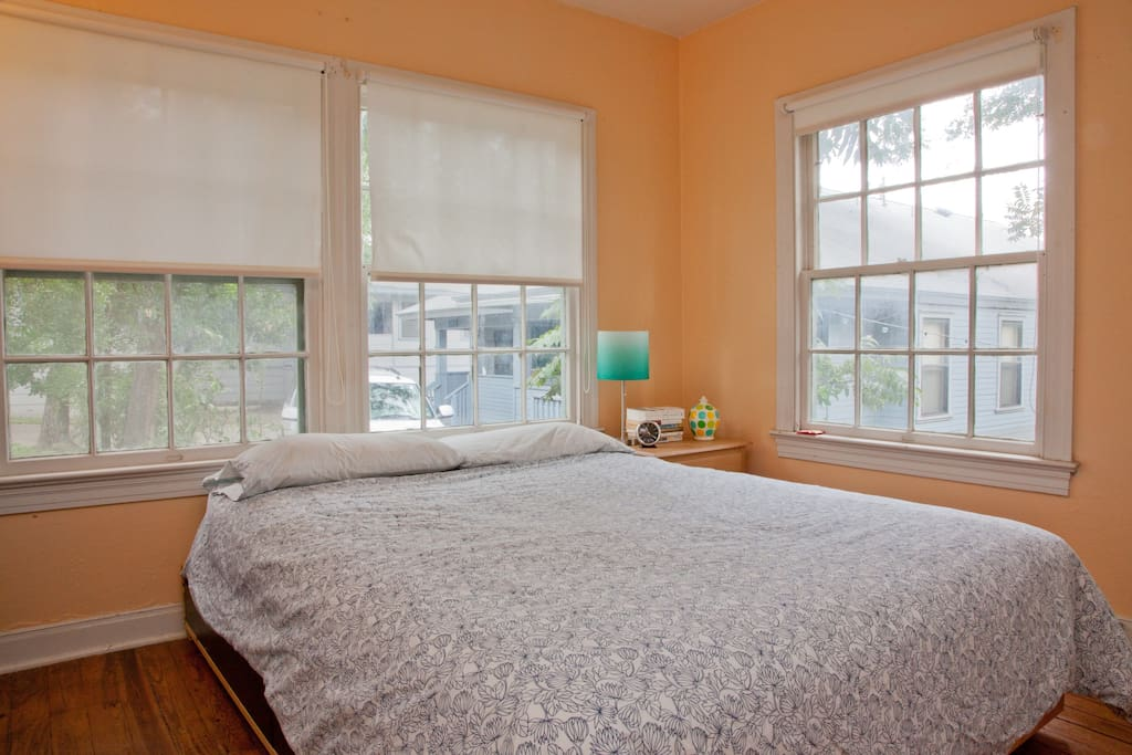 sunny, comfortable bedroom
