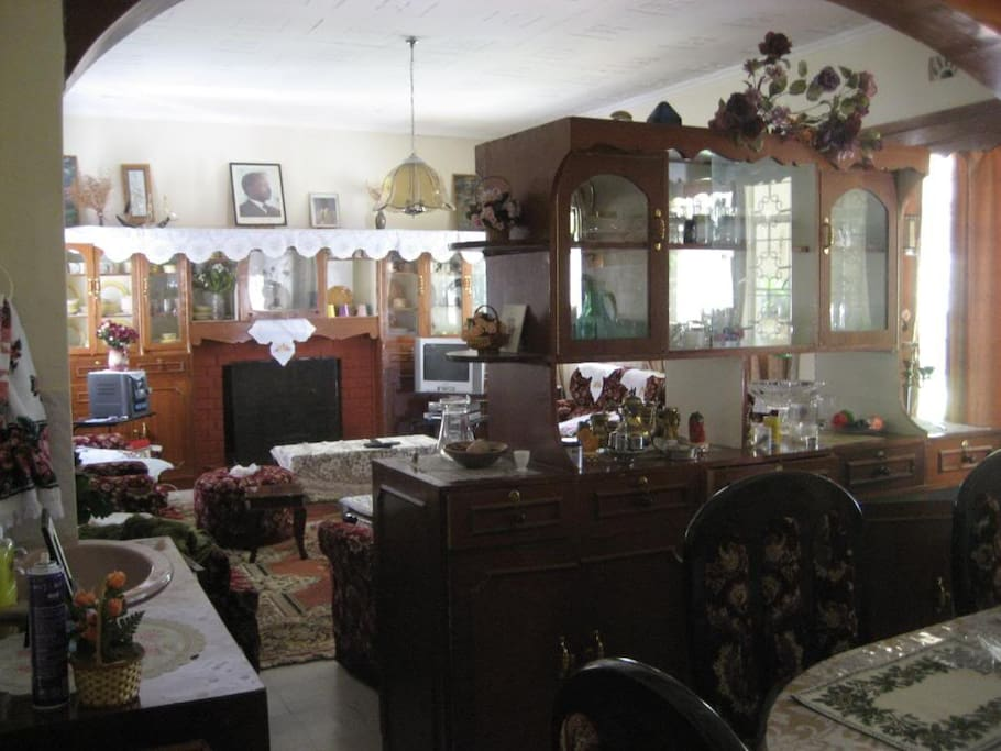 Part of Dining room and Living room