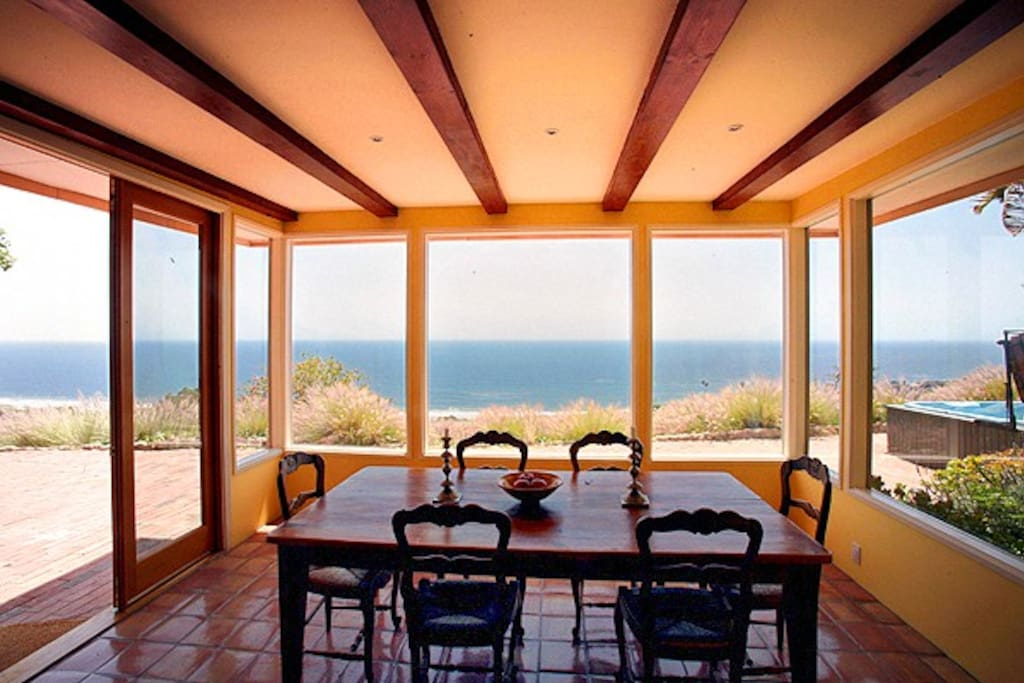 ocean view from dining room