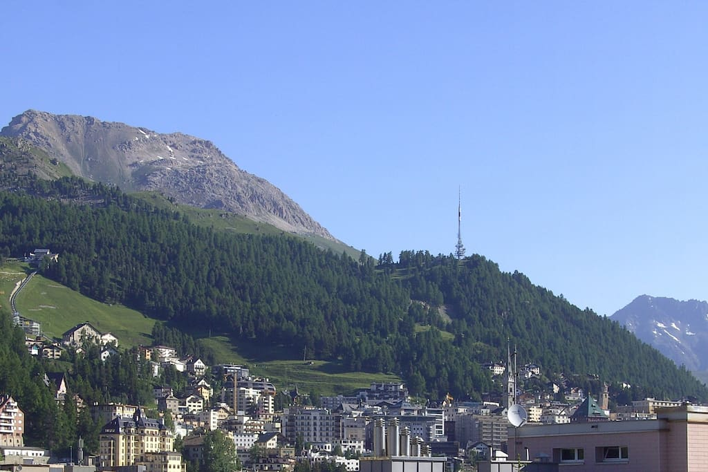 View up to St.Moritz Dorf