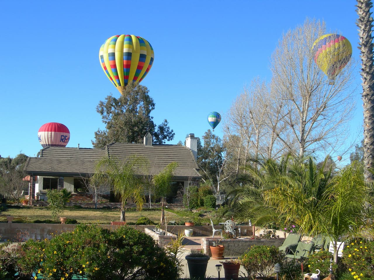 This is the villa, we hope that you do not mind the hot air balloons ;)