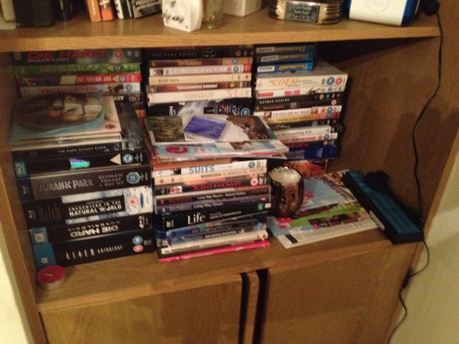 A few DVDs if you'd like to relax in
