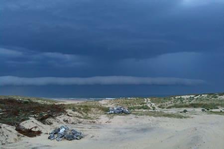 Vue splendide dunes, mer et fleuve - Byt