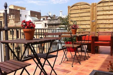 Sunny Terrace whit views in Gracia