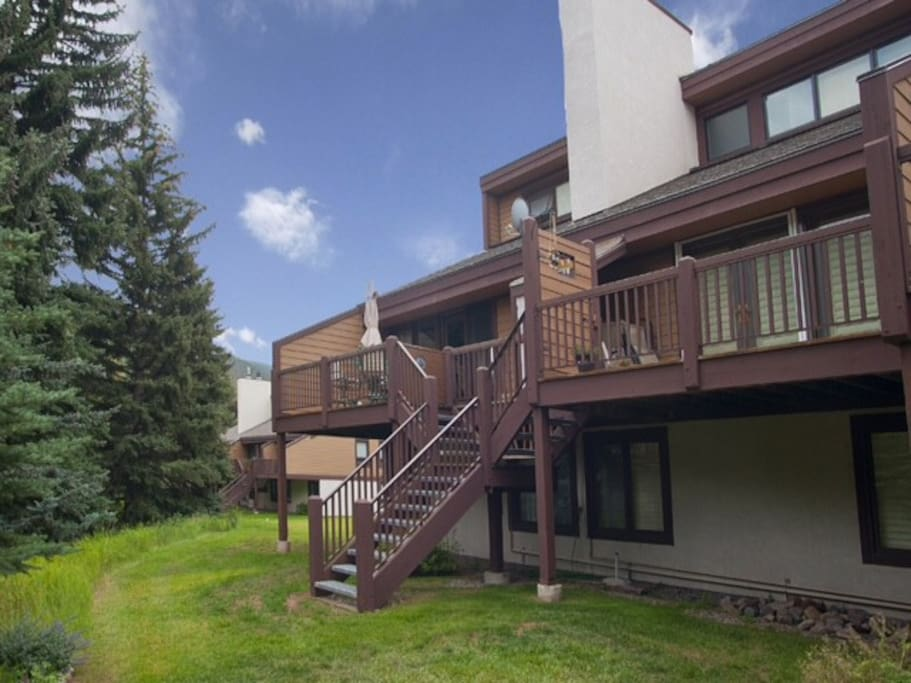 Three story townhome with great views overlooking the river