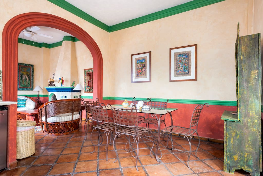 Dining area looking into the living room