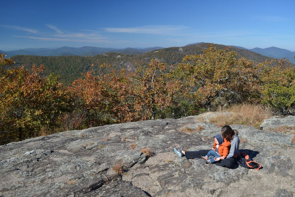 The Appalachian Trail is very close and provides great hiking and stunning vistas