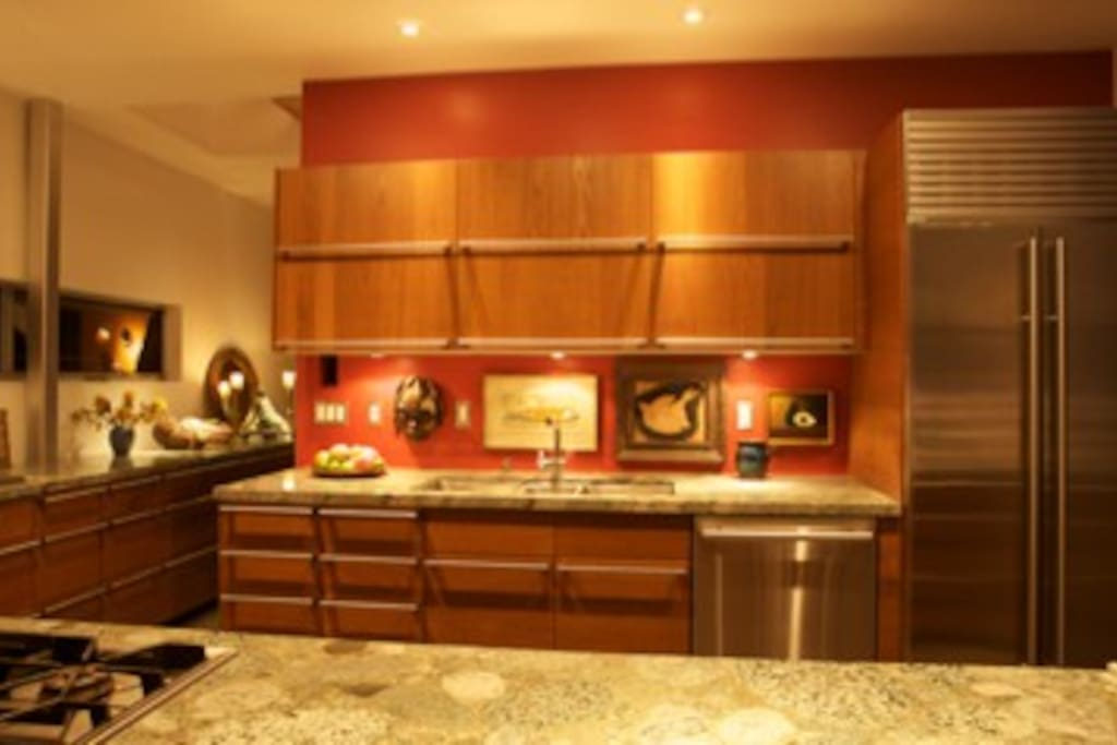 The beautiful and functional kitchen which is a cook's dream
