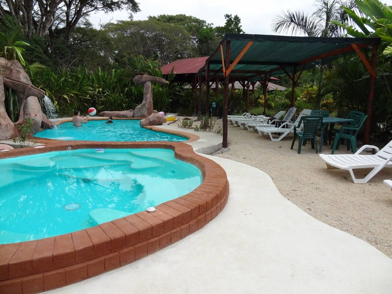 poolside beach, pool and 10 person cool water Jacuzzi