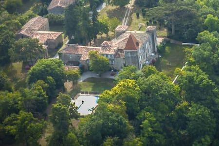 Château du 16ème siècle, avec une grande piscine. - Château