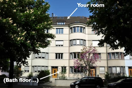 Two mansard rooms with own toilet - Basel - House