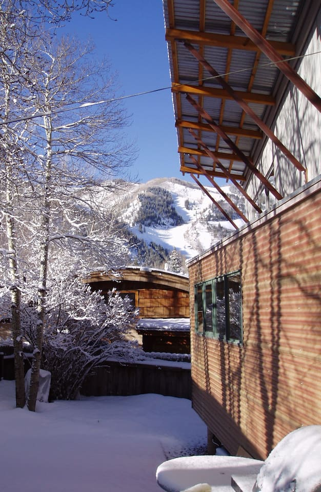 View of Ajax ( Aspen Mountain ) from the deck .