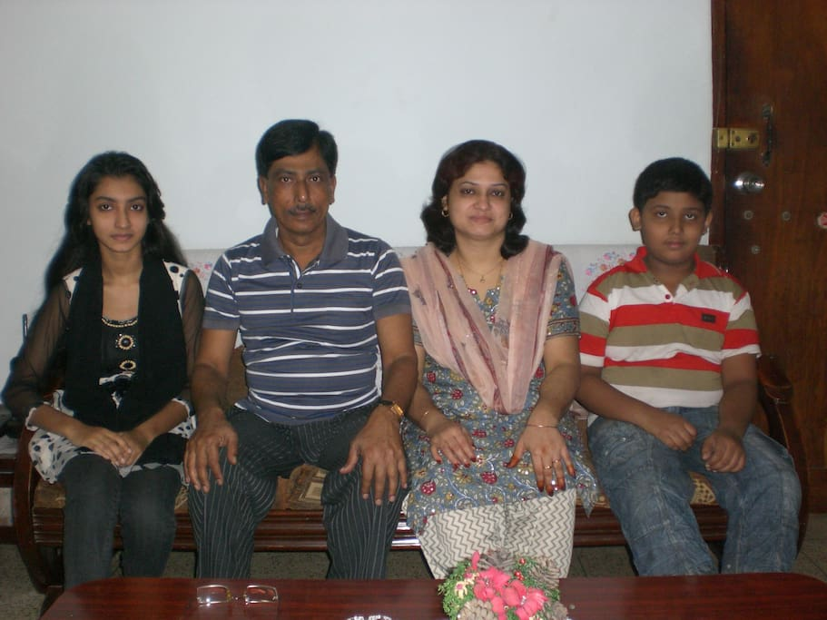 Shahidul Islam with family