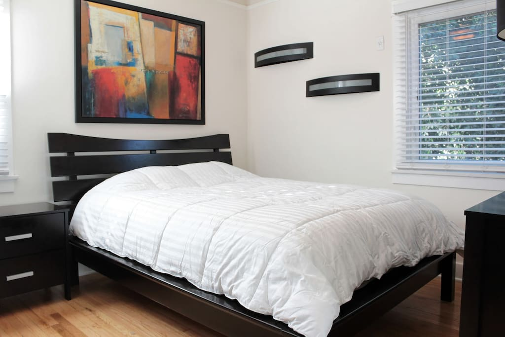 Master Bedroom w/ queen pillow-top mattress.