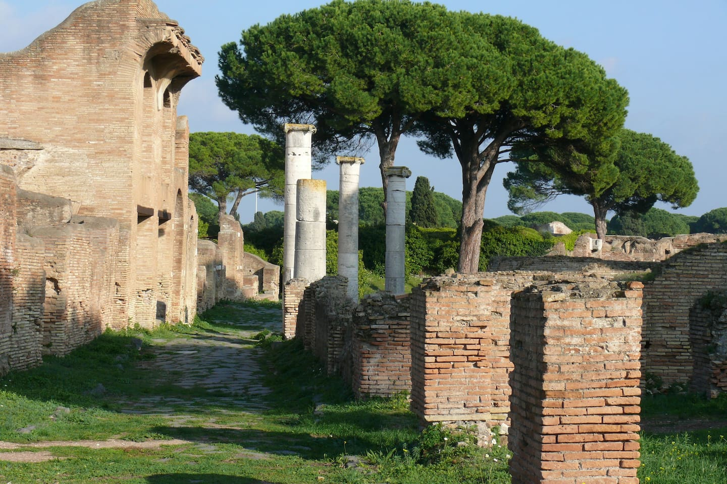 Ancient Roman ruins at Ostia Antica 1 stop away on the loal train. Why travel to Pompei!!