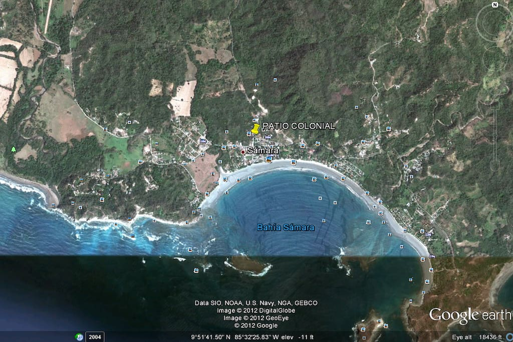 (SENSITIVE CONTENTS HIDDEN) Earth view of Samara Beach