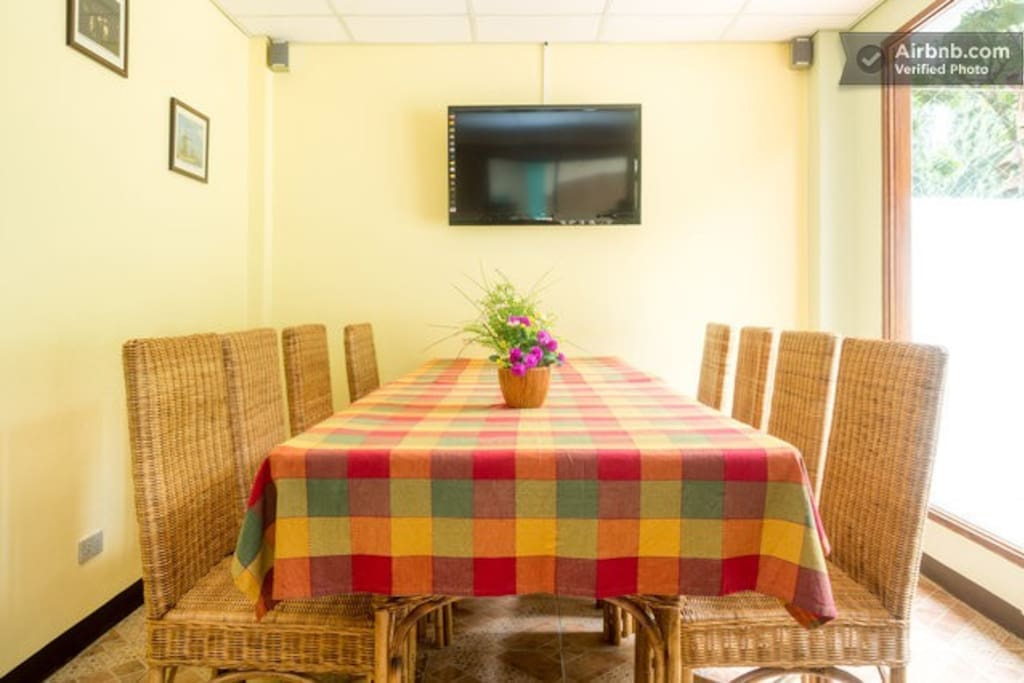 Reception, Lobby and Restaurant for breakfast, lunch, dinner, common TV and entertainment room..