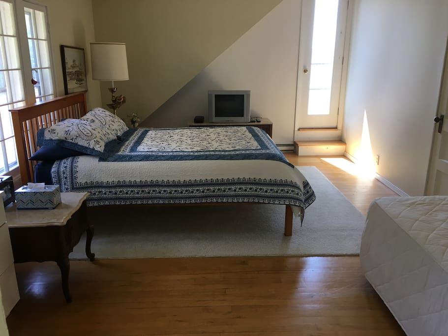 Bedroom overlooking Lake Champlain