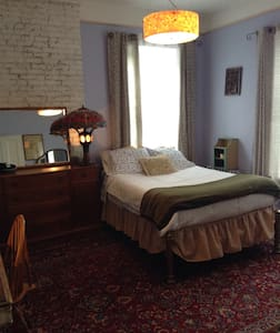 Historic home's master BR, full bed - House