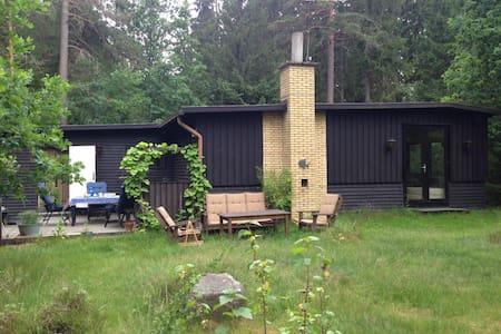 Fredfyldt hus i skoven, 300m fra Helgasjön - Sommerhus/hytte