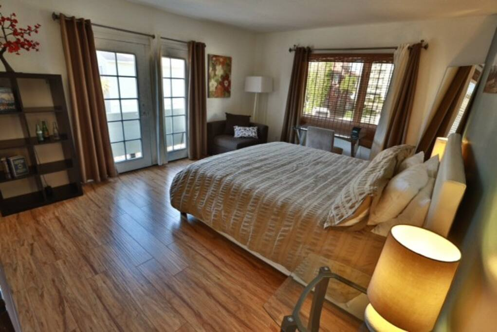 Master Suite - recently remodeled with new hard-wood floors
