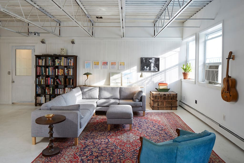 Cozy couch area