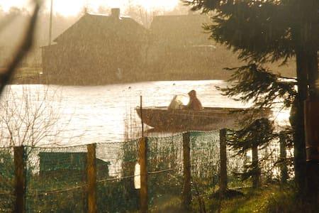 Дом на острове на берегу реки - village Matrosovo / Polesskiy district / Поселок Матросово Полесского района