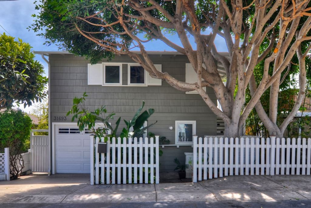 Front/street view with private parking available directly in front of house.
