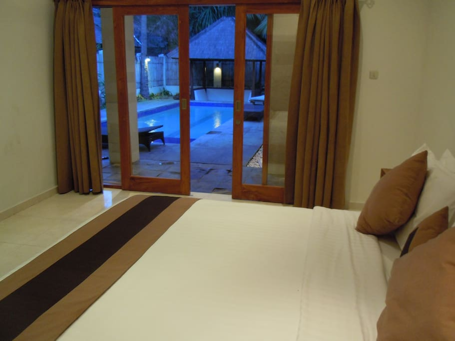 Bedroom pool view