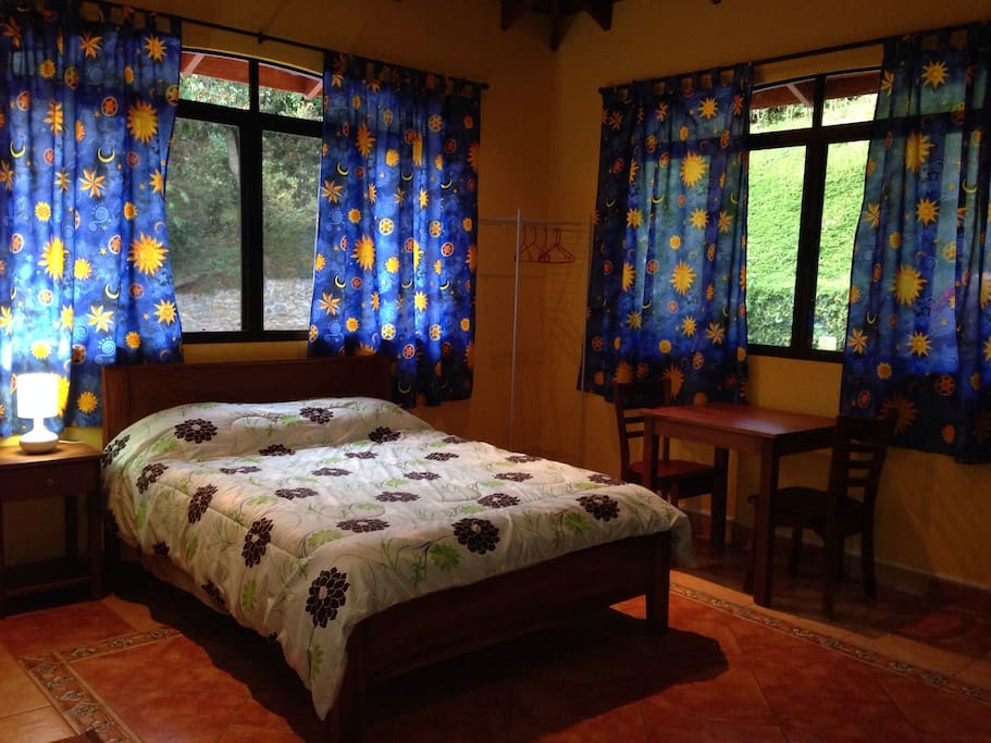 Tortuga Room. Double bed, sofa bed, kitchenette, private entrance. Private bath and shower.