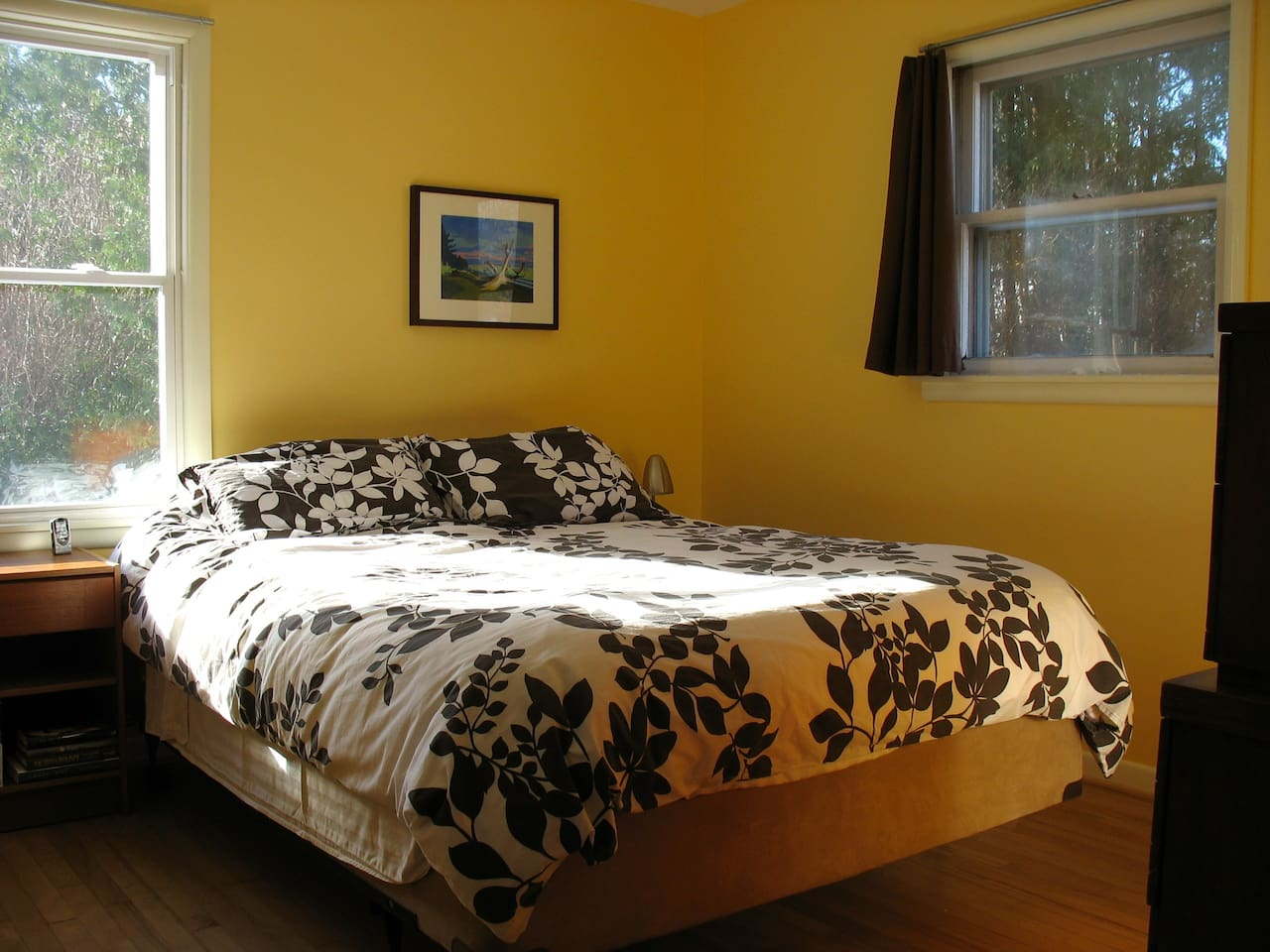 Your room with queen bed and down comforter.