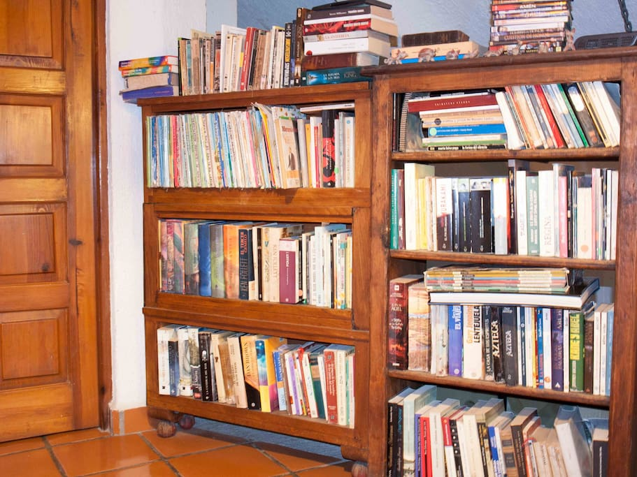 we have some books (we love to read) and you can borrow one if you want to