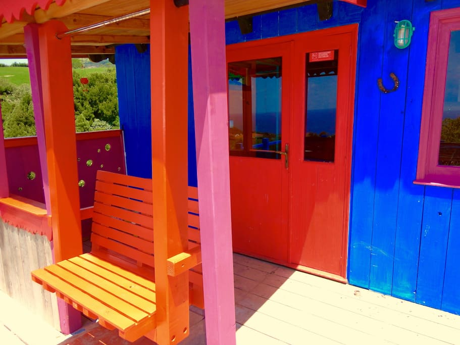 Casa Banana Colorful Cabin Azores Cabins For Rent In