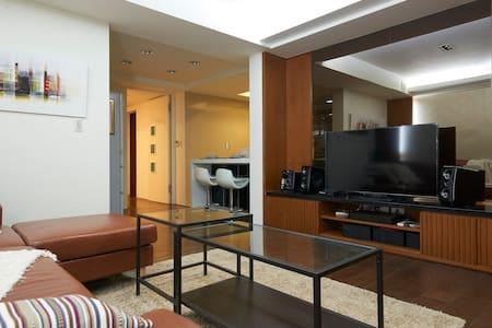 5分鐘步行近中山國小站 (客餐廳+雙人房) (5mins MRT) Cozy apartment! - Appartamento