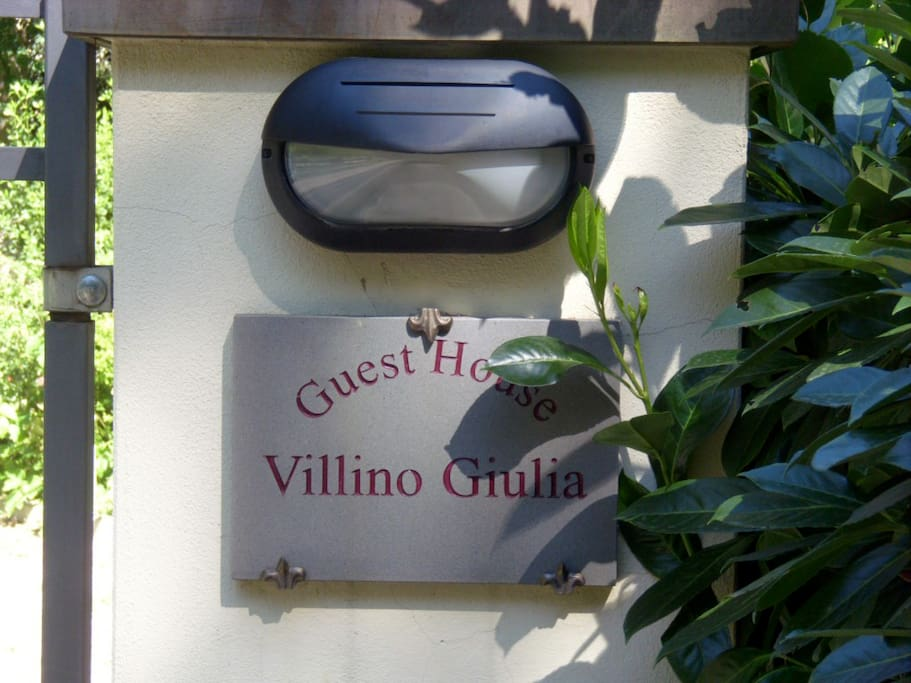 entrance of the villino